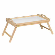 SET OF 2 BREAKFAST BED SERVING LAP TRAY LAPTOP PINE WOOD TABLE MATE FOLDING LEGS