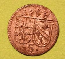 MAGMA  Salzburg,  Schrattenbach , Pfennig 1756,  ss.++,   Z.3103,    Pr.2375