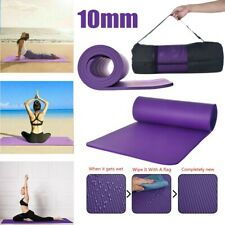 10MM Yoga Mat Thick Non-slip Durable Exercise Fitness Gym Extra Mats  Pad
