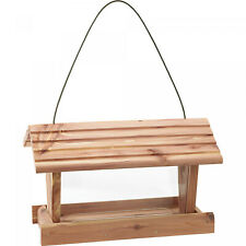 Wild Bird Feeder 3 Lbs Capacity Pennington Cedar Hanging Feeders Viewing Window