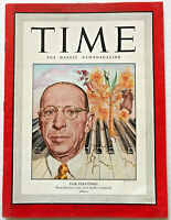 Vintage 1948 Igor Stravinsky TIME MAGAZINE Photo Cover Feature Rite Of Spring