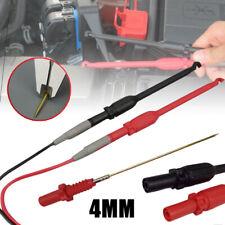 2pcs 4mm Automotive Test Lead Kit Power Probe Wire Piercing Clip Puncture