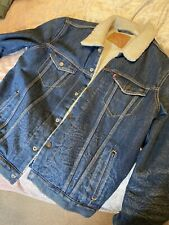 Levis Sherpa Mens Denim Coat Size L