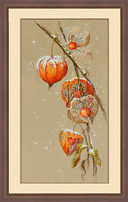 """Counted Cross Stitch Kit Golden Hands - """"Physalis"""""""