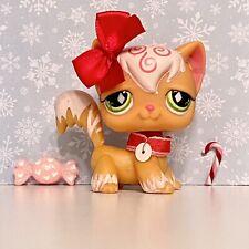New ListingAuthentic Littlest Pet Shop Lps Cat Angora 511 Orange Swirl Diamond Christmas