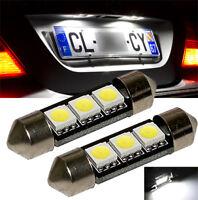 2 ampoules à LED Blanc pour  feux de plaque pour  Seat  Leon Ibiza  Alhambra