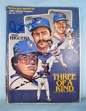 Autographed Milwaukee Brewers 1987 Program Signed Robin Yount & Paul Molitor (O)