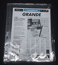 Paquete 5 hojas Grande transparente para billetes 1 división