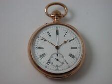 Traum Taschenuhr mit Chronograph - Wolfszahn Verzahnung um 1880 Gold 750