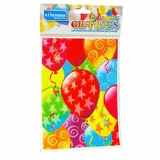 6 Kingfisher Balloons & Star Party Loot Bags Birthday Celebrations