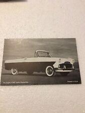 Ford Zodiac Convertible Postcard