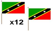Saint Kitts & Nevis Waving Hand Flag 12 Pack Decoration St Christopher National
