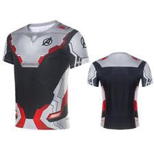 Marvel Avengers 4 Endgame Long Short Sleeve T-Shirt 3D Print Tee Blouse Tops Men