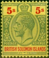 More details for solomon islands 1914 5s green & red-yellow sg36 fine & fresh lightly mtd mint