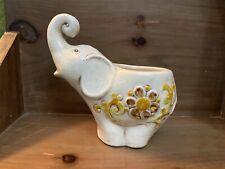 New ListingVintage Mcm Elephant Flower Planter Vase Holder Brown Cream Rare 50s 60s 70s Euc