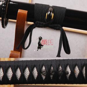 Black Cotton Ito Sageo Wrapping Cord 4m For Japanese Samurai Sword Katana Tsuka