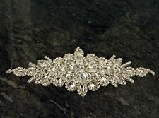 Diamante cristallo MOTIVO APPLIQUE Patch Ferro Da Sposa Vestito Abbellimenti D3