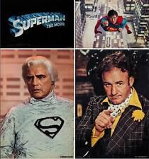 SUPERMAN THE MOVIE set of 4 Jumbo Stills Posters 20x30 CHRISTOPHER REEVE BRANDO