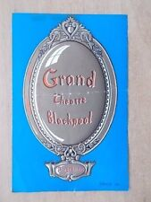 GRAND THEATRE BLACKPOOL PROGRAMME 1952 TELL TALE MURDER - WITH TICKETS