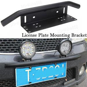 Front Bumper License Plate Mount Bracket Led Work Light Holder OffRoad SUV Picku