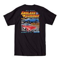 2018 Cruisin Endless Summer official car show pocket t-shirt black Ocean City MD
