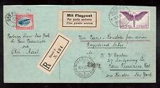 USA #C3 Used On Registered Cover - Paris - London - NY With Swiss Airmail