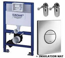GROHE RAPID SL 82cm 4 in 1 WC SET Concealed Frame+Cistern+Plate+Brackets+Mat
