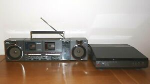 SHARP QT-P8G Cassette Radio with SHARP RP-P8 Turntable