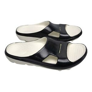 Spenco Mens Slide Sandals Black Slip On W11 M10