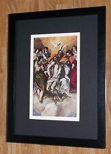 """Incorniciato 12"""" x16"""", El Greco, Santa Trinità, i comandanti dipinti, BIBBIA DIPINTI"""