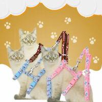 Pet Baby Dog Puppy Cat Rabbit-Kitten Nylon Harness Collar Adjustable Lead. O6R1