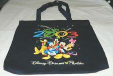 Blue Disney Dreams Florida Year 2003 Zippered Tote Carrying Bag Mickey Mouse