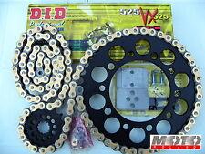 KIT TRASMISSIONE CATENA KTM 990 SM R T '07-'14 NERO DID 525 VX-RING ORO PBR+RIBA