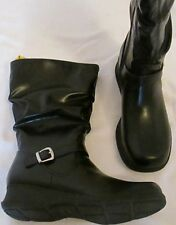Boots girls size 6M EUR 39 new man made materials black wedge heel