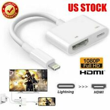 Lightning To HDMI Cable Digital AV TV Adapter For iPhone 11 6 7 8 X XR iPad Pro#