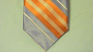Croft & Barrow Silk Tie Gold Silver