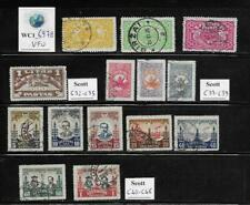 WC1_6978. LITHUANIA. 1924 & 1930 air mail sets. Scott C32-C35, C37-C46. Used