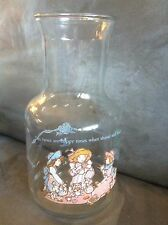 HOLLY HOBBIE GLASS VINTAGE JUICE DRINK PITCHER - VERY GENTLY USED