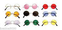 *Hippy Hippie 60s 70s John Lennon Round Ozzy Granny Fancy Dress Costume Glasses*