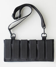 Magazine Pouch 6 Pack 9MM, 40, 45  DOUBLE STACKED MAGAZINES with Shoulder Strap