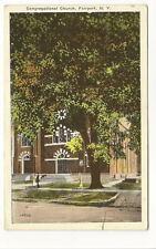 FAIRPORT NY Congregational Church Vtg 1946 Postcard