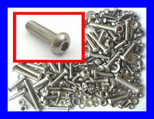 Stainless Button Head Allen Bolts (Socket Caps), Nuts, Washers 300 Pk M5, M6, M8