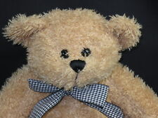 Black White Gingham Bow Blonde Teddy Bear Circo Plush Stuffed Animal Toy