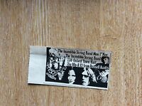 u1-5 ephemera 1971 original advert oxford the incredible string band