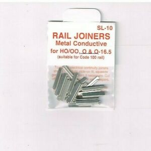 PECO SL-10 HO/OO CONDUCTIVE TRACK JOINER SUIT ONLY CODE 100 RAIL