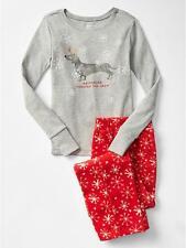 GAP Kids Girls Graphic Microfleece 2 pc Pajama PJ Set Dog Top Pants Sz 4 NWT $40