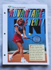 Chris Evert Champions & Record Holders Sports Heroes Sheet