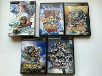 Lot of 5 PLAYSTASION2 Super Robot Wars set JAPAN NTSC-J + emon Bain DX Pack
