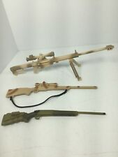 1/6 LOT OF 3 SNIPER RIFLES BARRETT 870 SCOPE US ARMY USMC DRAGON DID BBI 21ST