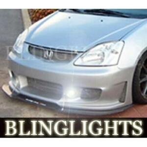 2002 2003 2004 2005 Honda Civic Si Silk Automotive Body Kit Bumper Foglamps